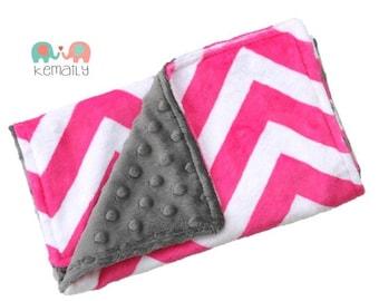 Hot Pink Chevron Minky Burp Cloth, Baby Gift, Newborn Essentials, Burp Cloths, Baby Shower, Chevron, Feeding, Nursing, New Mom Essentials