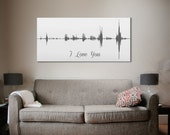 Sound Wave Print, A Personalized Voice Message Design - Design Only
