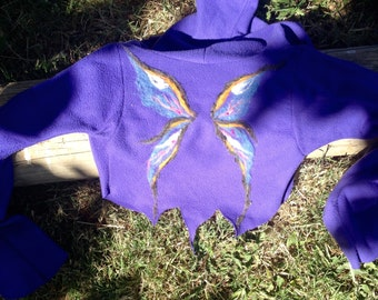Custom Needle-Felted Pixy Hoodie Shrug
