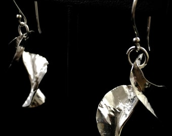 Fold Formed Sterling Silver Earrings