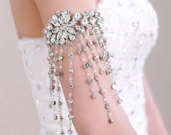 Wedding Arm Bracelet,  Bridal Arm Bracelet, Wedding Arm Cuff, Bridal Arm Cuff, Wedding Cuff Bracelet, Bridal Cuff Bracelet