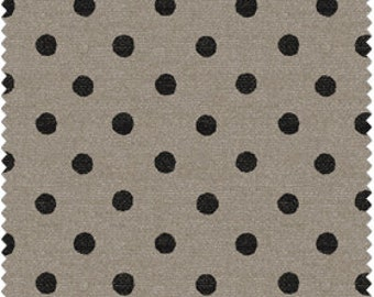 Jardin de Provence from Windham Fabrics - Full or Half Yard Black Dot on Linen Textured Taupe