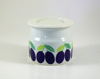 Arabia Pomona Luumu Jam Jar with Lid by Raija Uosikkinen - Plum