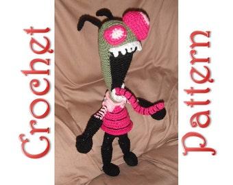 Invader Zim a Crochet Pattern by Erin Scull