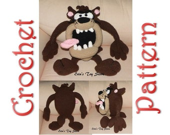Tasmanian Devil a Crochet Pattern by Erin Scull