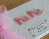 Personalised Bachelorette or Hen Night Book - Pink sequinned shoes.
