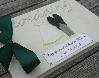 Custom made Bride and Groom Wedding Guest Book