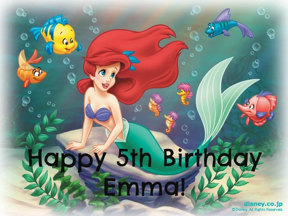 Items similar to Edible Image - Little Mermaid Cake ...