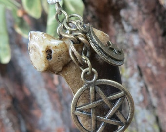 Bear Claw Necklace, Bear Totem, Spirit of the Bear Talisman, Bear Claw Pendant,  Animal Spirit Guide Necklace, Witchcraft Wicca,