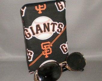 Giants Eyeglass Sunglasses Case - Zipper Top - Cell Phone, Camera, iPod Bag - Padded Zipper Pouch - San Francisco Giants