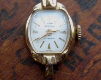 Vintage Waltham Wrist Watch  - Recycle Upcycle Steampunk Supply - Jewelry. Watch. Scrapbook. Supply