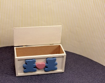 Dollhouse Toy Chest Box Miniature Furniture for Nursery