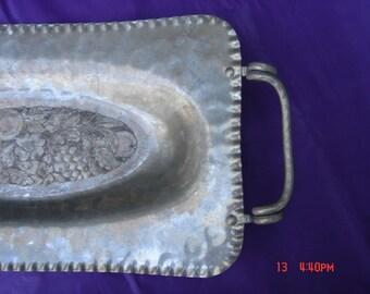 Vintage  Chromwell Hand Wrought AlumInium Tray - Unique