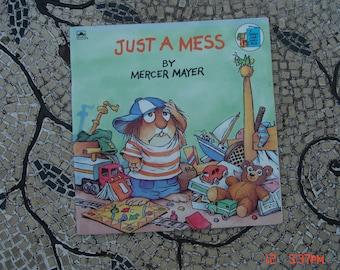 Just a Mess by Mercer Mayer - A Golden Look Look Book-1987