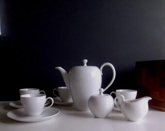 Johann Haviland Eva Zeisel White Demitasse Coffee Set