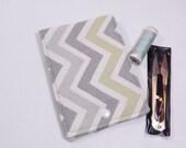 Chevron Sew Kit, Sewing Kit, Travel Sewing Kit, Mini Sew Kit, Mending Kit, Repair Kit, Sewing Wallet, Grey, Gift Under 15