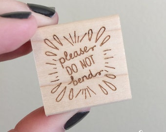 "1"" Do Not Bend Stamp"