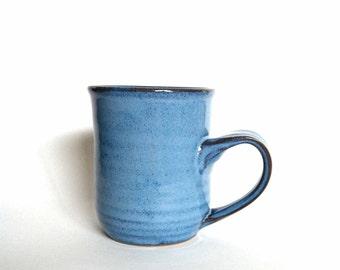 Handmade Vibrant Blue Stoneware Mug - Blue Ceramic Mug - Pottery Coffee Mug - Blue Mug - Blue Stoneware Mug - Beer Mug