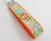Handmade Fabric Wristlet Key Fob - Personalization Available - Design Your Own from Bluebird Park fabric- Webbing Style