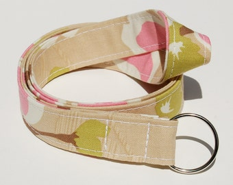 Joel Dewberry Modern Meadow Dogwood Bloom in Pink and Maple - Lanyard ID Badge Holder - Personalization Available