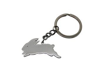 Bunny Sterling Silver Keychain, bunny keychain, bunny pendant, silver bunny, silver bunny keychain, silver bunny keyring, bunny keyring, key