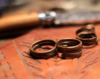 Hammered Copper Rings - Custom Sizing