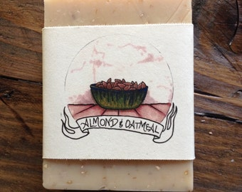 Almond and Oatmeal Handmade Soap