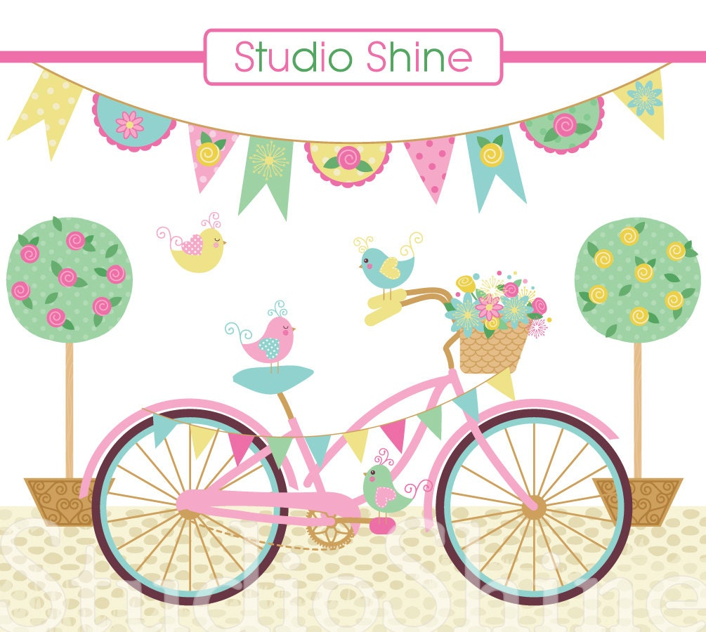 digital clipart lovely day for a ride cute bird clipart