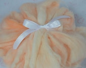85% Angora Rabbit Fiber Roving, Michigan raised  - Peaches & Cream