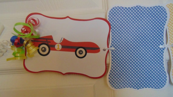 Race Car Photo Banner 12 Month Picture Birthday