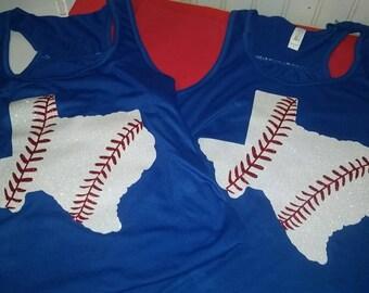 State Baseball Shirt, Big State Baseball Shirt, Baseball Mom Shirt, State Baseball Tee, Texas State Baseball, Baseball Mom Shirt, Baseball