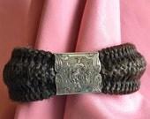 Victorian Hair Bracelet 10K Gold Clasp - Original Antique