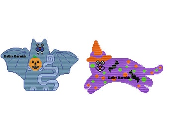 Plastic Canvas Cats Gone Batty PDF Instant Download
