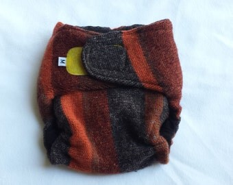 MEDIUM Wool Diaper Cover - Velcro - Touchtape - Wool Soaker - Wool Cover - Wrap Style - 100% Wool