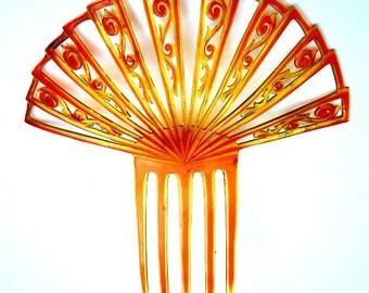 Art Deco hair comb Spanish comb hair accessory, hair jewelry, headdress, headpiece, decorative comb