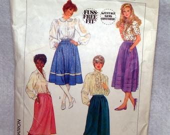 Simplicity 7435 misses skirts size 8 waist 24 pattern