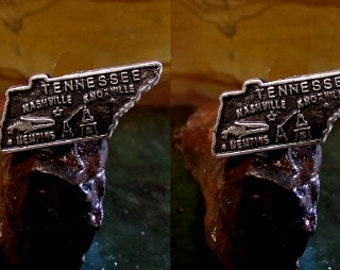Tennesse State Cufflinks in solid sterling silver Free Shipping