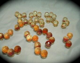 Vintage Prism Like Beads In Orange   Destashed.