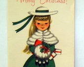 Vintage Christmas Card - Merry Christmas