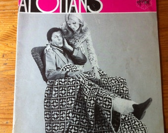 21 Gypsy Afghans 1972 old pamphlet Jack Frost Vol. 87 great afghans to knit and crochet