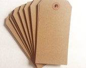 Kraft Brown Shipping Tags 20pcs // 4 3/4 x 2 3/8 inches