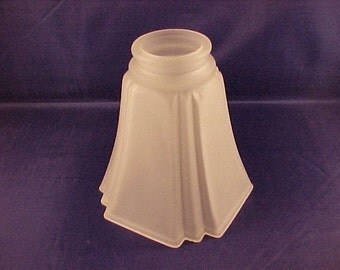 Art Deco Style Frosted Glass Light Shade for Pendant Fixture