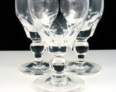 Stuart of England Crystal Cordials Aperitif Glasses Vintage Stemware Dorset Pattern Set of 3