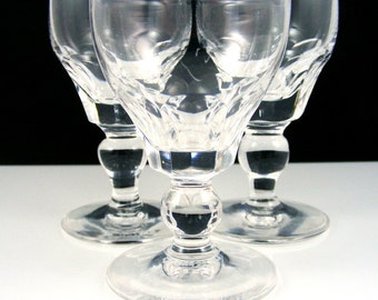 Crystal Cordials Stuart of England Aperitif Glasses Vintage Stemware Dorset Pattern Set of 3