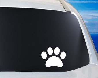 Puppy Paw Car Window Vinyl Decal Laptop Tablet Mirror Sticker, pet lover decal decor gift idea, great stocking stuffer, pet pride decal