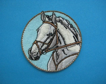 Iron-on Embroidered Patch Horse 2.4 inch