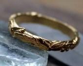 Olive Branch Ring 14K Gold Vermeil Vine Ring