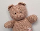 Penny Pig toy knitting pattern