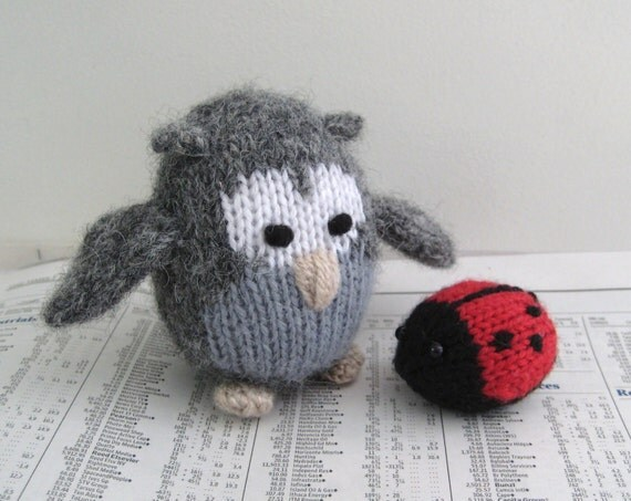 Cricklewood Owl and ladybird toy knitting patterns