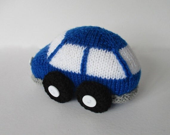 Bubble Car toy knitting pattern by fluffandfuzz on Etsy